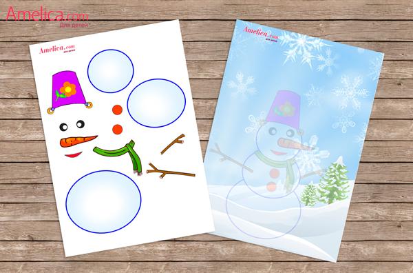 Снеговик из бумаги к новому году