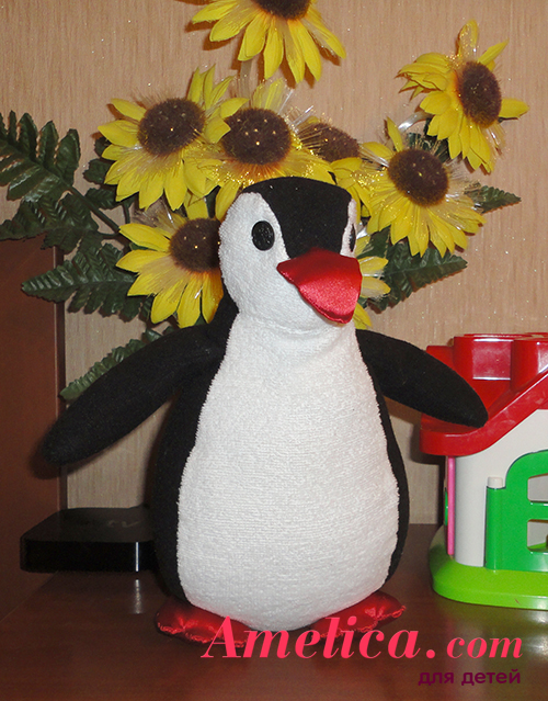 мягкая игрушка своими руками пингвин выкройка