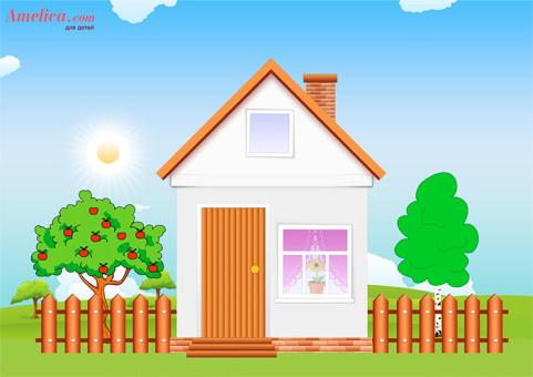для детей своими руками, аппликация дом, аппликация шаблоны, детские аппликации