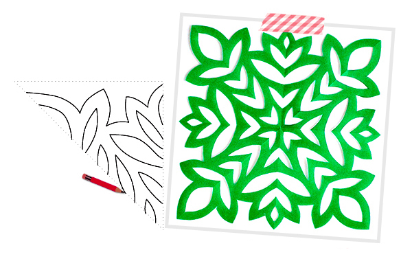 Снежинки шаблон своими руками