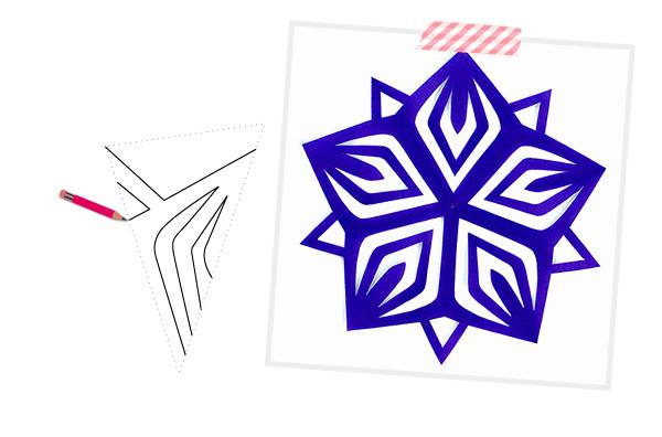 как сделать снежинку, схемы снежинок, шаблоны снежинок для вырезания