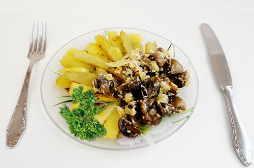 картошка с грибами, картофель с грибами, грибы с картошкой, картошка с шампиньонами рецепт, жареная картошка с грибами