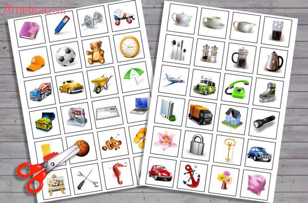 настольная игра лото для детей распечатать бесплатно