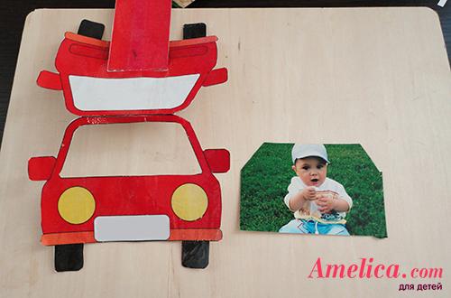 рамка для детского фото своими руками машинка