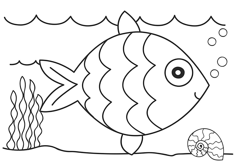 Раскраски рыбки для детей - 5