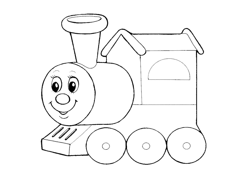 Картинки паровозика для детей раскраски