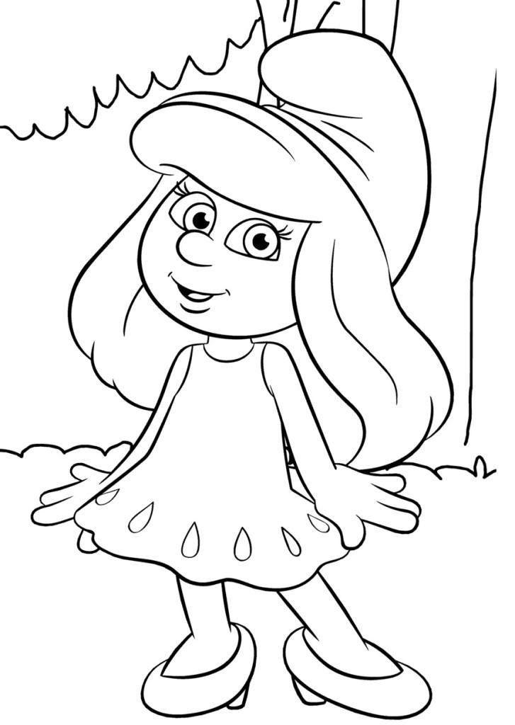 Раскраски для печати для девочки