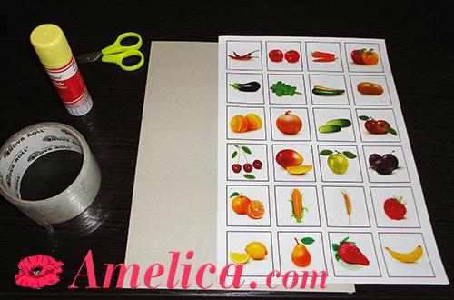развивающая детская игра про овощи своими руками