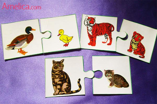 развивающие игры для детей своими руками, игра про животных, карточки для детей с животными