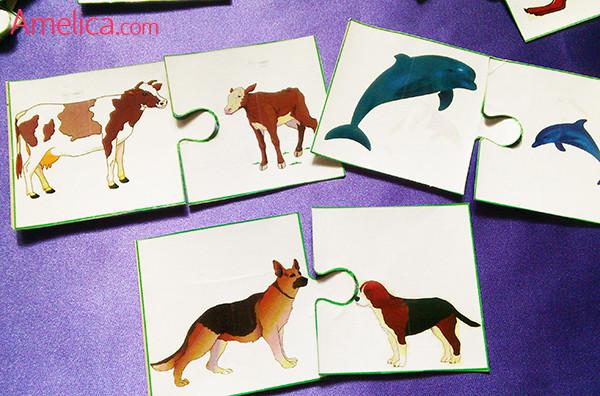 игры для детей своими руками, игра про животных, карточки для детей с животными