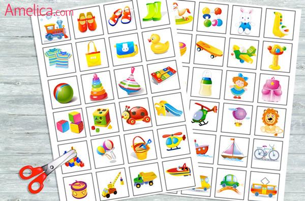 как сделать настольную игру, настольные игры распечатать, детское лото