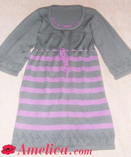 вяжем платье спицами для женщин