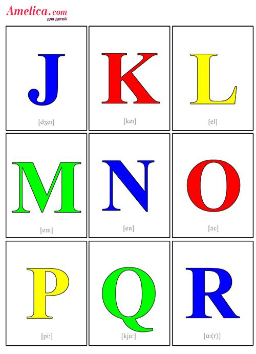 Звуки и буквы английского языка карточки скачать