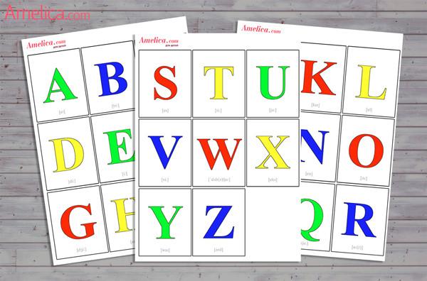 английский алфавит для детей, английские буквы и звуки распечатать, английский алфавит с произношением