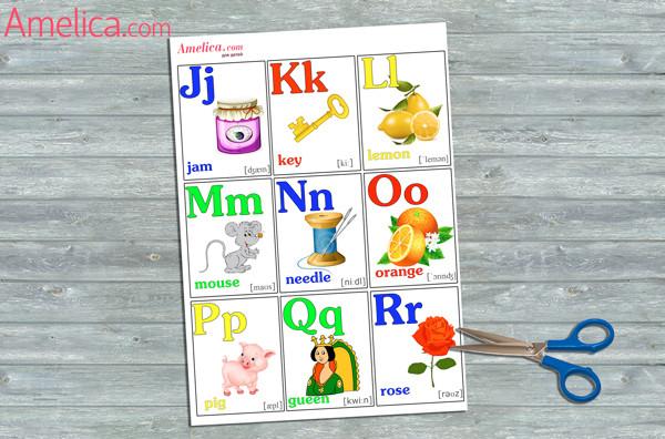 английский алфавит для детей распечатать, английский алфавит с произношением