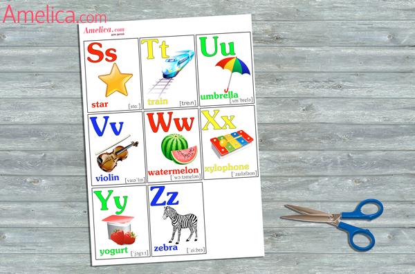 Азбука на английском языке в картинках