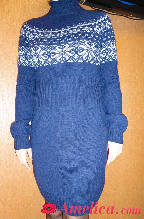 вяжем платье спицами для женщин схема описание