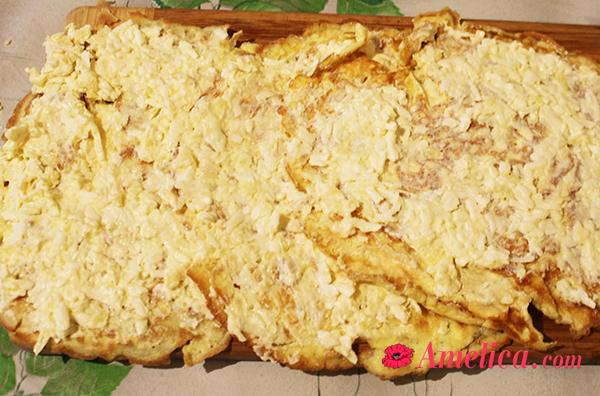 вкусная рулетики с чесноком и сыром по домашнему рецепту