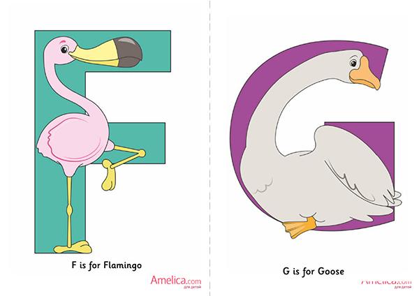 карточки английского алфавита распечатать, бесплатно, для детей,
