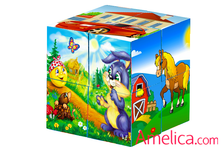 кубики из бумаги своими руками, кубики собери картинку