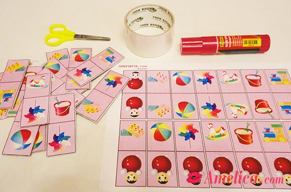 игры для детей распечататьомино с картинками