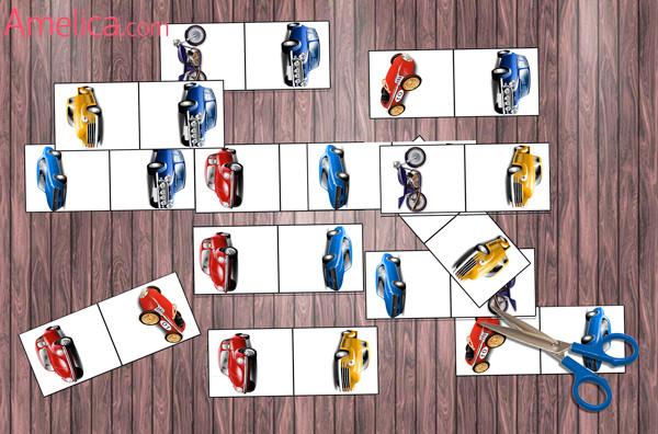 игра домино, домино для детей распечатать, игры для мальчиков