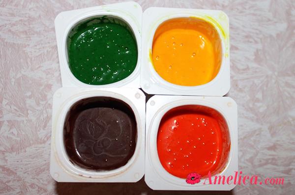 делаем пальчиковые краски своими руками для детей