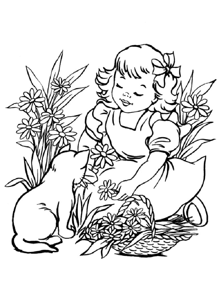Раскраски для девочек мышки