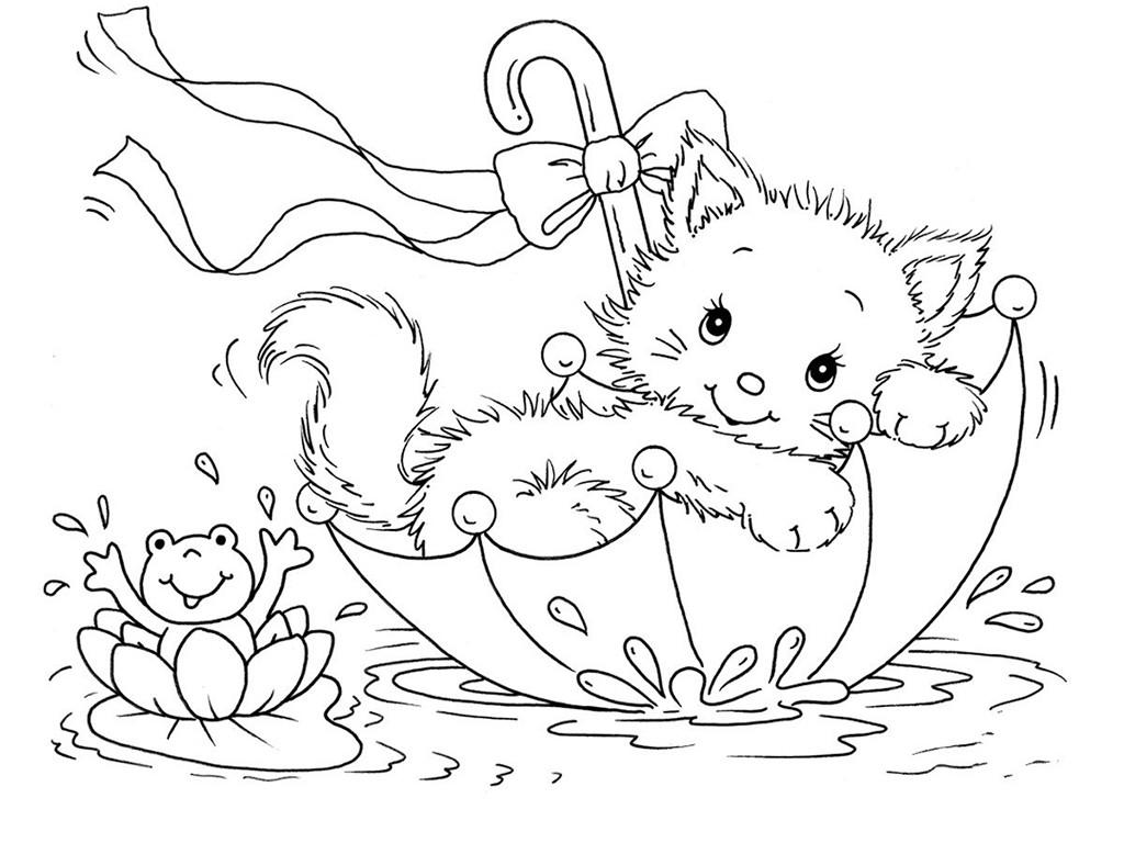 Раскраска для девочек животные распечатать - 6