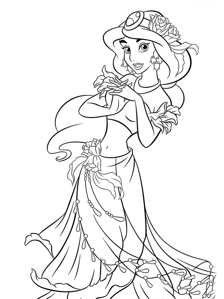 Онлайн раскраска принцесс диснея
