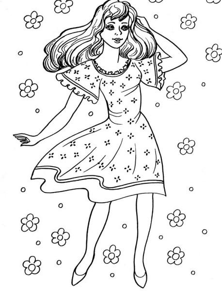 раскраски для девочек распечатать