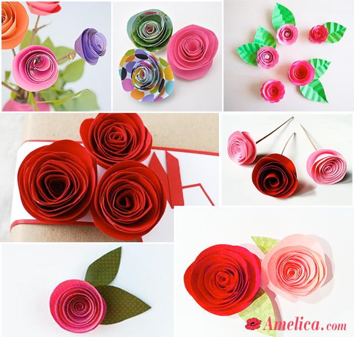роза из бумаги своими руками