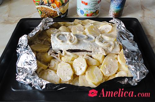 скумбрия в фольге в духовке рецепт с картошкой фото
