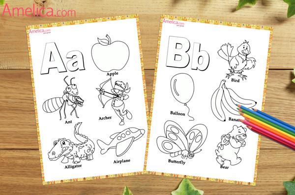английские буквы для раскрашивания, английский алфавит буквы для детей