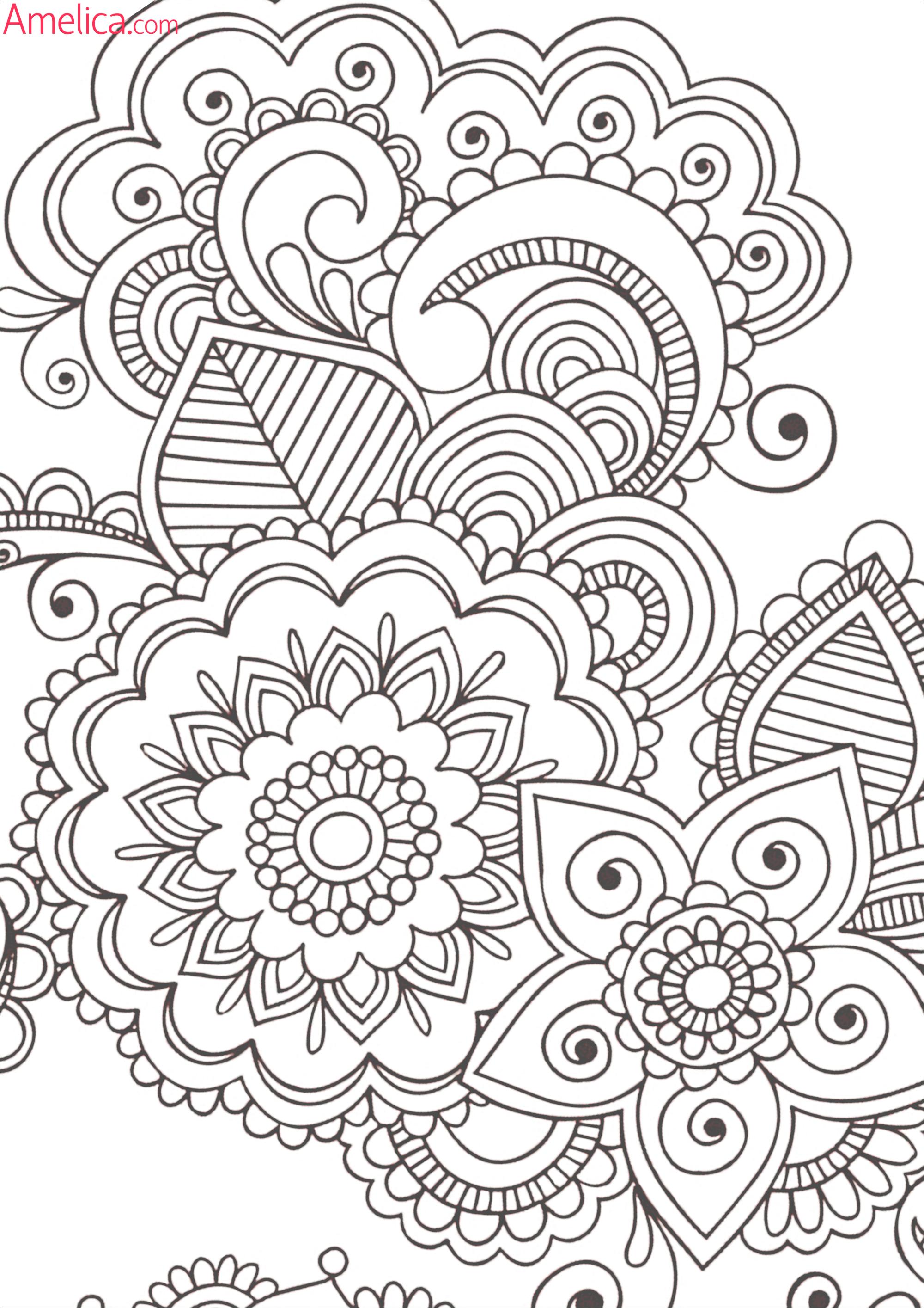 Раскраски узоры антистресс