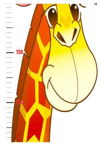 ростомер распечатать, ростомер на стену для детей жираф скачать