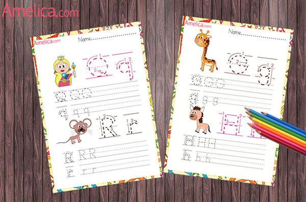 английские буквы прописью для детей, прописи по английскому языку, прописи распечатать