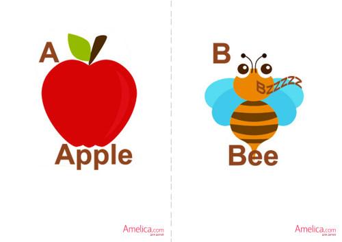 английский алфавит для детей, карточки английские буквы, слова распечатать