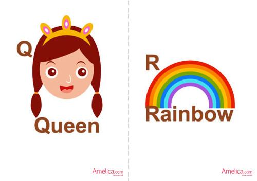 английский алфавит карточки для детей, распечатать