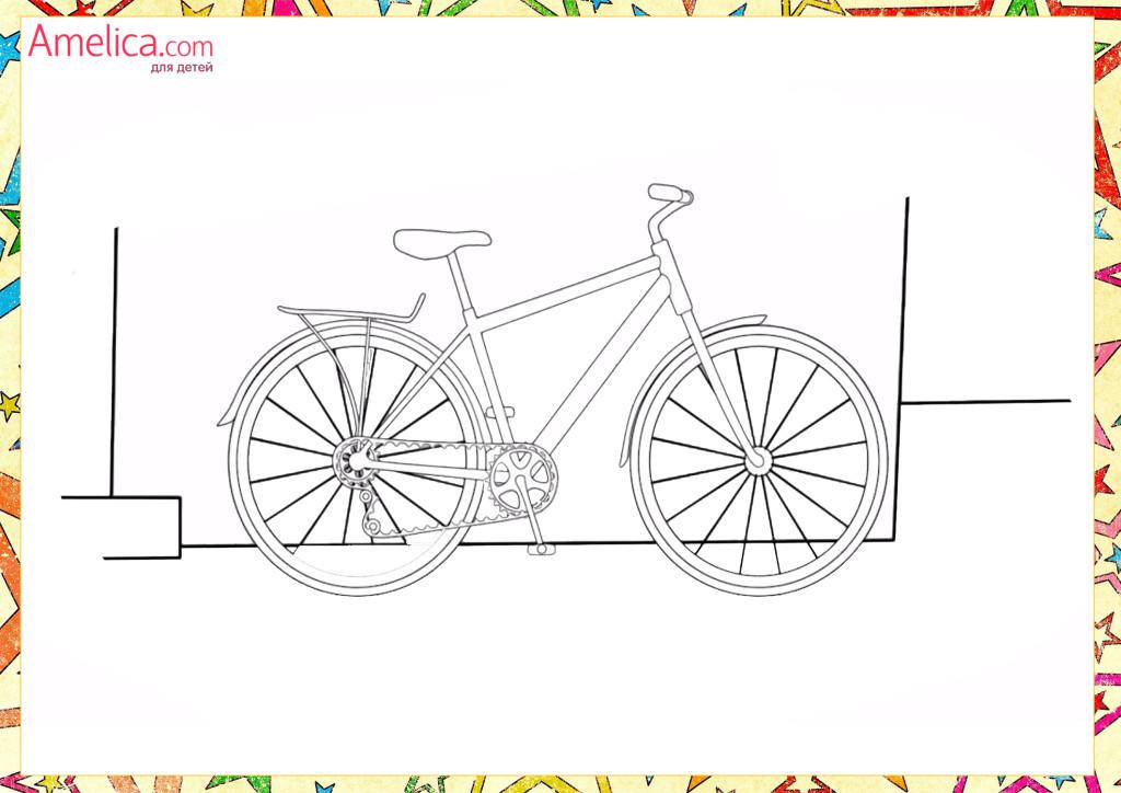 раскраски для мальчиков распечатать бесплатно, машины, велосипед