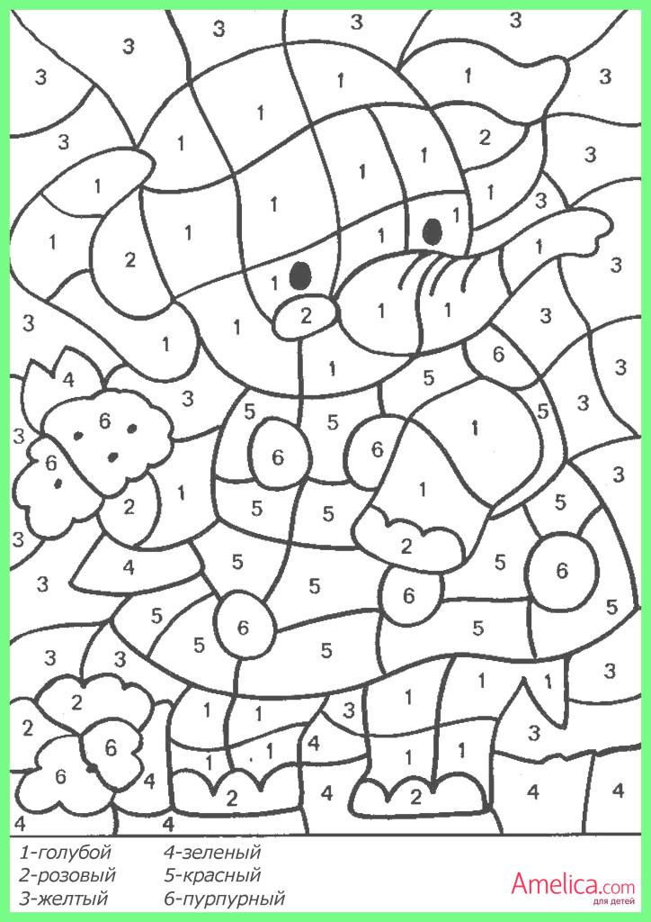раскраски по номерам распечатать рисуем по номерамamelica