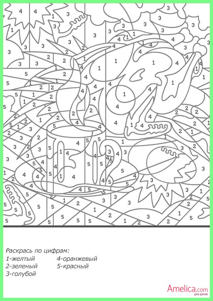 раскраска по цифрам распечатать, скачать бесплатно, рисунки по цифрам для детей