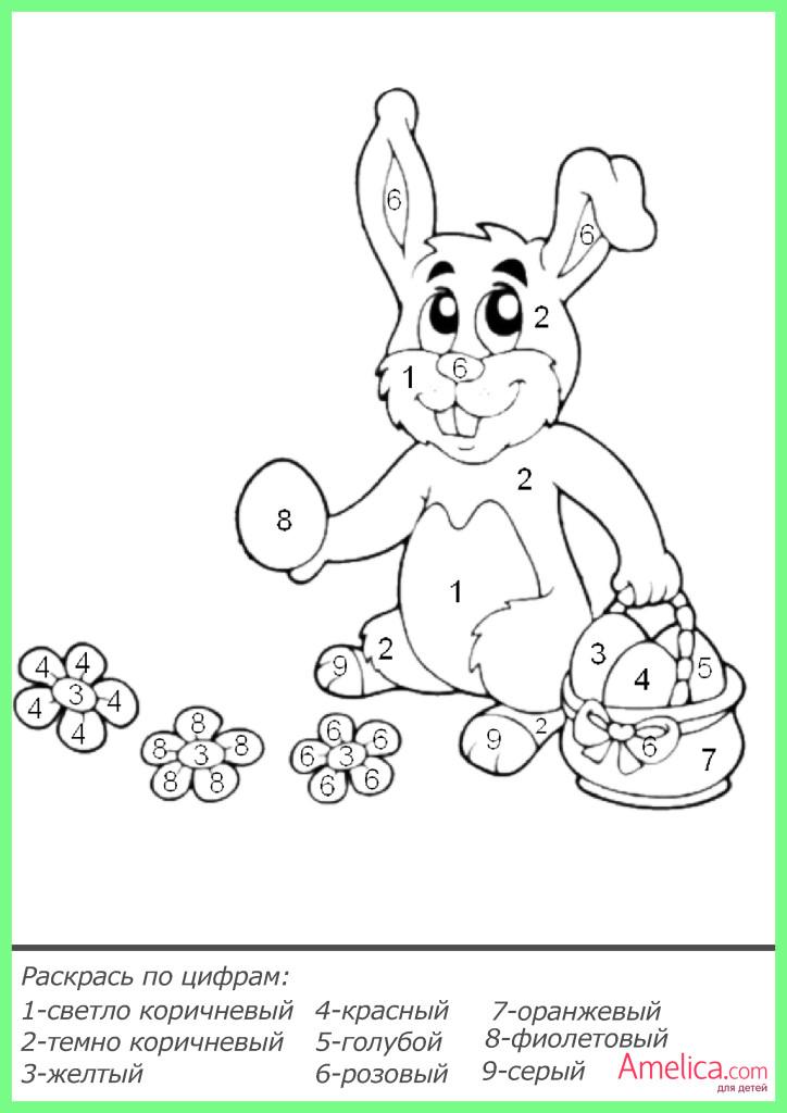 раскраски по цифрам распечатать, рисунки по цифрам для детей бесплатно