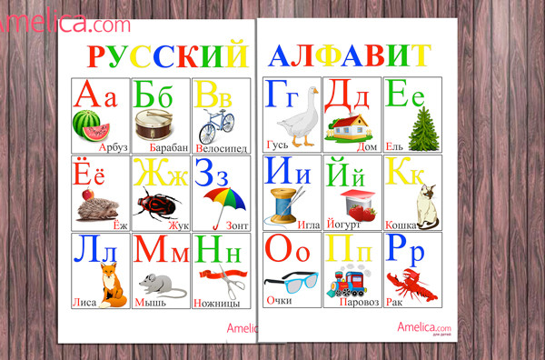 детский алфавит скачать, алфавит в картинках, плакат буквы русского алфавита