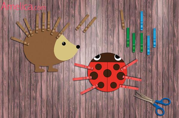 шаблоны и картинки для игр с прищепками, дидактические игры с прищепками