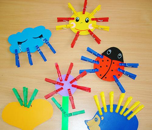 игры с прищепками для детей, шаблоны картинки скачать
