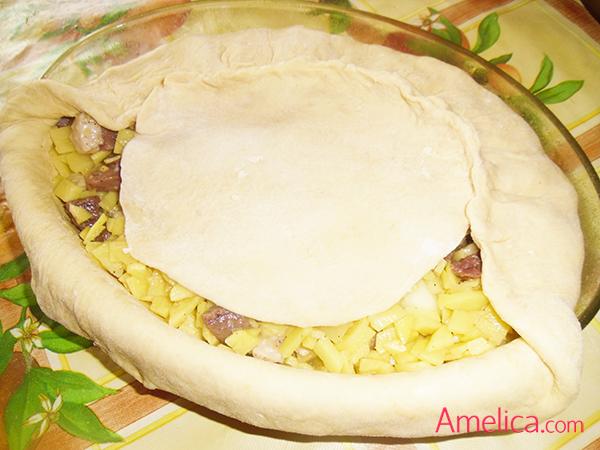 пирог с гусем и картошкой рецепт с фото