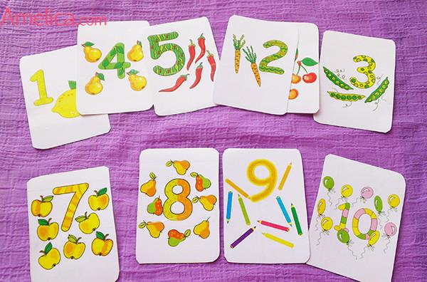 карточки для детей скачать, распечатать, карточки цифры от 1 до 10