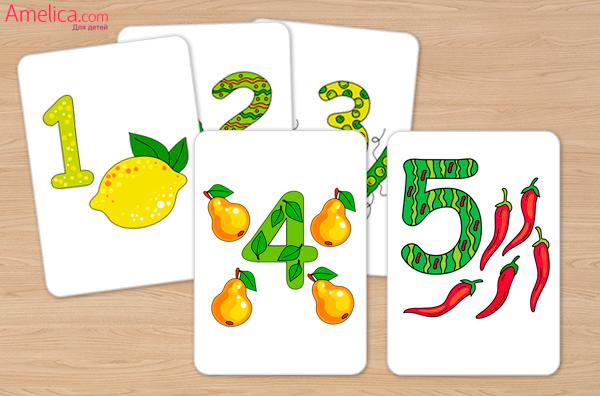 развивающие карточки для детей скачать, распечатать, карточки цифры от 1 до 10