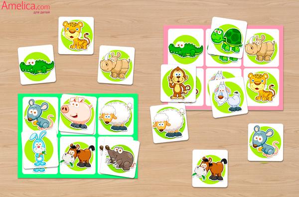 развивающие настольные игры для детей, игры для детей 2,3,4,5,6 лет скачать, игра лото бесплатно
